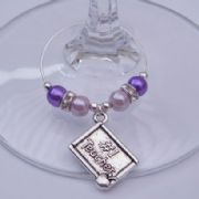 Number 1 Teacher Wine Glass Charm - Elegance Style